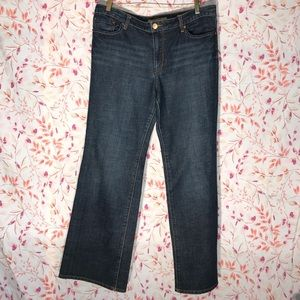 Seven 7 Premium Denim Flare Dark Jeans Size 14